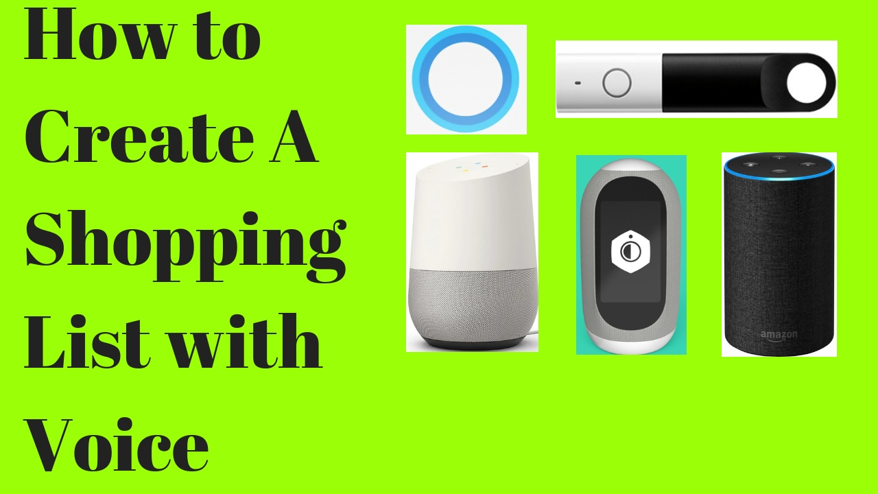 How to use Voice Control to create your shopping lists